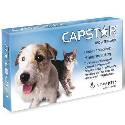 Anti-Pulgas-Novartis-Capstar-de-11-mg-com-1-Comprimidos-para-Cães-e-Gatos---Até-11-Kg